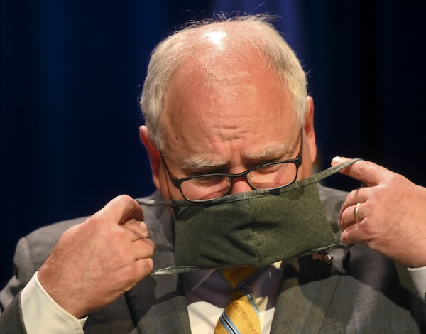 Minnesota Gov. Tim Walz's administration has recommended that students, teachers and school staff wear face masks as they return in the fall, but it