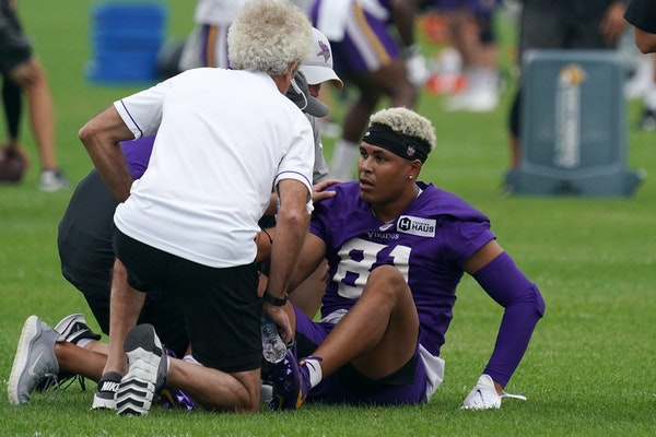 Source: Vikings receiver Bisi Johnson suffered torn ACL in practice