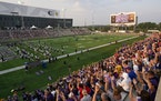 Minnesota Vikings fans did the Skol Chant as they watched practice Saturday night.