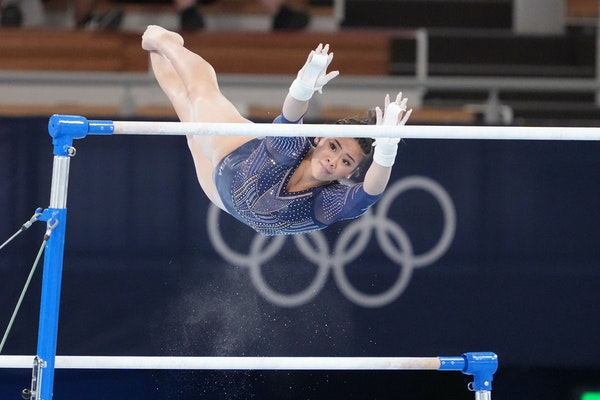 Suni Lee won the bronze medal in the uneven parallel bars competition Sunday at the Tokyo Olympics.