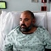 Victor Suero, 34, is treated for COVID-19 at Jackson Memorial Hospital in Miami, July 23, 2021. Doctors and nurses in the Florida hospital thought the
