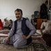 Mohammad Nabi Mohammadi, 40, with displaced people from Malestan, at his home in Kabul, Afghanistan, July 20, 2021. Since the Taliban began their mili