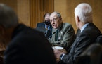 In this May 12, 2021 file photo, Sen. Chuck Grassley, R-Iowa, speaks during a hearing. (Pete Marovich/The New York Times via AP, Pool)