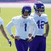 Vikings kicker Greg Joseph (1), with punter Britton Colquitt (2) and long snapper Andrew DePaola at minicamp in June, has handled all the field-goal a