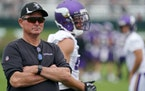 Mike Zimmer was not pleased being without three quarterbacks at training camp on Monday.