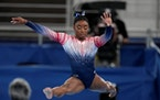 Simone Biles won the bronze medal in the balance beam competition on Tuesday.