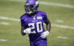 Jeff Gladney was a rookie last August in training camp with the Vikings. He has not participated in person this training camp.