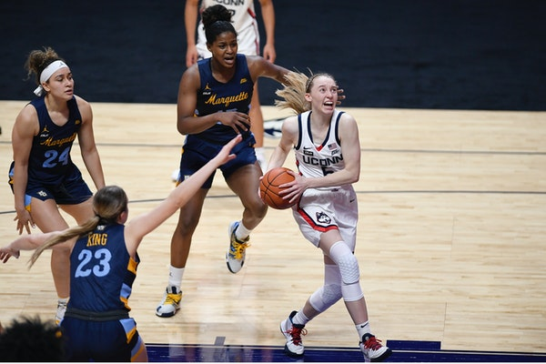 Former Hopkins star Paige Bueckers has filed for a trademark on her nickname, 'Paige Buckets.'