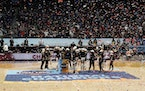 Stanford players celebrated after winning the 2021 NCAA Division I Women's Basketball Tournament.