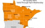 Air quality alert extended through Wednesday for northern Minnesota as wildfire smoke lingers