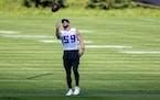 Vikings linebacker Cameron Smith last August.