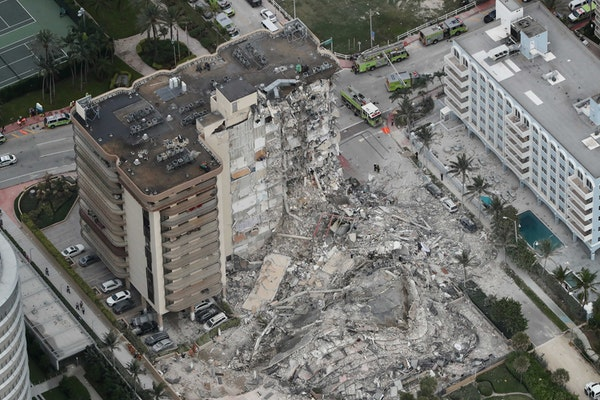 Body camera footage released from Florida condo collapse