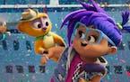 Vivo (voiced by Lin-Manuel Miranda) and Gabi (voiced by Ynairaly Simo).