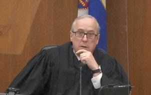 Hennepin County District Judge Peter Cahill spoke before jury selection last March in the trial of former Minneapolis police officer Derek Chauvin.