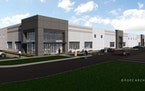 A rendering of an InverPoint industrial building being built by United Properties in Inver Grove Heights.