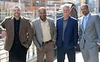 Leaders of Brown Venture Group. From left, Managing Partner Chris Brooks, partner Jerome Hamilton, partner Chris Dykstra, and Managing Partner Paul Ca