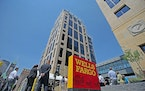 Wells Fargo is delaying the return of workers to its corporate offices, including its Downtown East campus in Minneapolis, shown in a file photo.