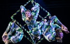 "Circus Juventas students Kaylie Youngberg, Yajaira Fleming, Tess Williams and Jessica Meeks perform in ""Galaxium."""