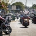 People rode through downtown Sturgis, S.D., last year during the 80th annual Sturgis Motorcycle Rally. [Grace Pritchett/Rapid City Journal via AP]