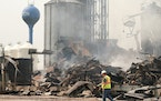 Whether the owner will rebuild the burned-out Clinton Grain Elevator is now up to its insurance company. Farmers are diverting loads to Graceville, 7