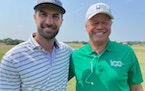 Former PGA Tour pro Don Constable, left, and Restorers tournament director Jerry Rose.