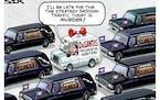 Sack cartoon: Florida Gov. Ron DeSantis
