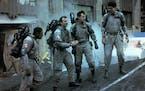 "Ernie Hudson, Bill Murray, Dan Aykroyd and Harold Ramis in ""Ghostbusters."""
