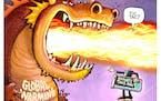 Sack cartoon: Feel the burn