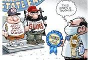 Sack cartoon: State Fair
