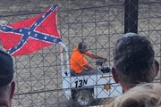 A controversy arose when this vehicle was driven in an event at the Kandiyohi County Fair. Many onlookers thought it was associated with the County Sh