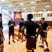 Gophers coach Ben Johnson worked with his players during a summer practice.