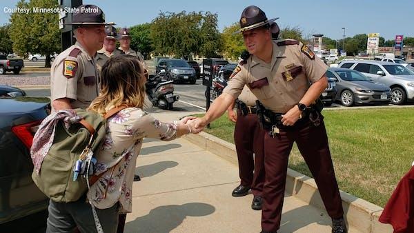 New mom meets Minnesota troopers who saved her life