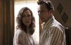 "Vera Farmiga and Patrick Wilson in New Line Cinema's horror film ""The Conjuring: The Devil Made Me Do It."""