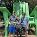 West Seventh residents Jason Huneke, Alex Groten and Ryan Loftsgaarden showed off their handiwork at North High Bridge Park.