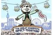 Sack cartoon: The Great Minnesota Infect-Together