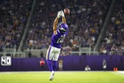 Vikings wide receiver Chad Beebe had a pass slip through his hands in the first half.