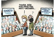 Sack cartoon: Cards for the anti-vaxxers