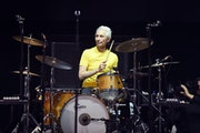 Musician Charlie Watts of The Rolling Stones performs during Desert Trip at the Empire Polo Field on Oct. 14, 2016 in Indio, California. (Kevin Winter