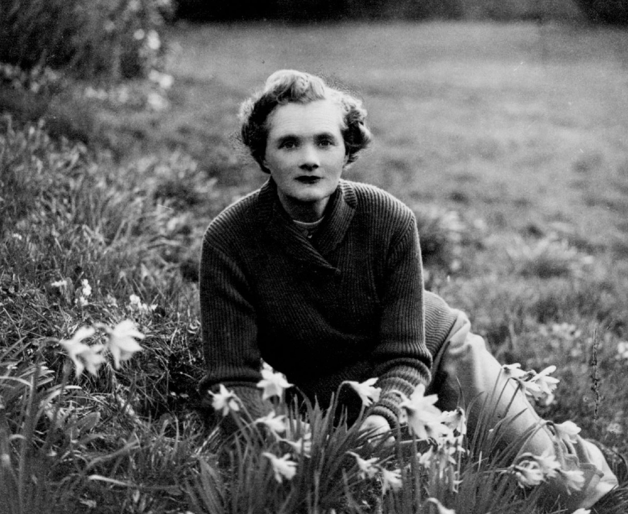 Author Daphne du Maurier at her home in Cornwall — perhaps after a hike?