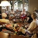 A group of St. Louis Park knitters are making dialysis arm warmers for patients and were seen at a home of a member Tuesday in St. Louis Park.  Here,
