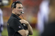 """""""I get upset when things don't go the right way,"""" Vikings coach Mike Zimmer said last week."""