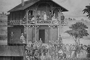 Minnesota Boat Club, circa 1884: The Raspberry Island club was the place to be for rowers and elite society guests as the sport became a national craz