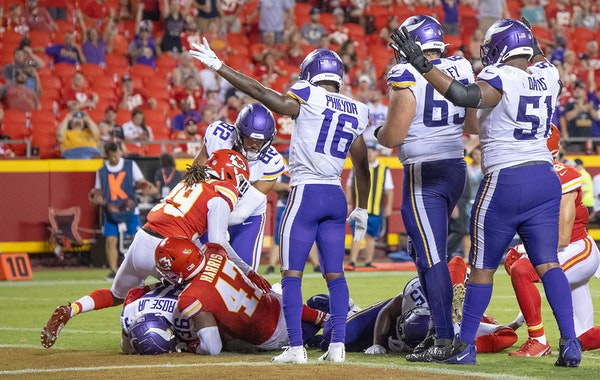 The Vikings need to reduce their roster from 80 players to 53 by Tuesday afternoon.