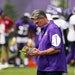 Minnesota Vikings General manager Rick Spielman looked over his notes during training camp Thursday. ] ANTHONY SOUFFLE • anthony.souffle@startribune
