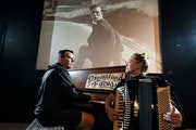 Dreamland Faces — Andy McCormick and Karen Majewicz — at the Trylon Cinema, where they'll perform live scores to silent Buster Keaton films.
