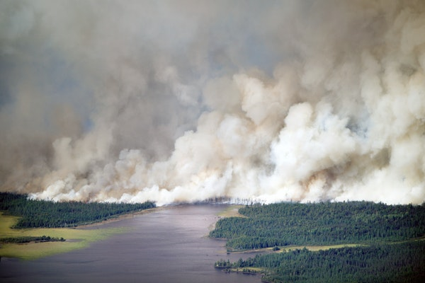 More than 40 square miles of northern Minnesota forest have been set ablaze by the Greenwood fire, but the fire is 37% contained as of Tuesday. This w