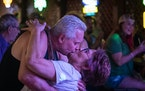 LUST: Jean and Ronnie Reed of Oakdale, newlyweds who were married in July, danced at Dino's Gyros at the Minnesota State Fair. The newlyweds knew ea