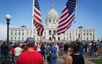A crowd filled the Minnesota State Capitol lawn on Aug. 28 during a rally against COVID vaccinations and mask mandates.