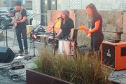 Low's Alan Sparhawk, Mimi Parker and Liz Draper warmed up for their tour Tuesday at Icehouse in Minneapolis.
