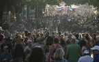 The Minnesota State Fair crowd on Carnes Avenue early Monday evening.